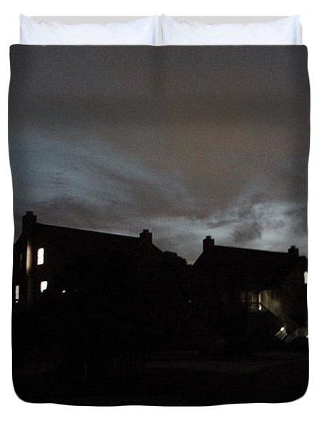 Darkness Falls At The Point Duvet Cover
