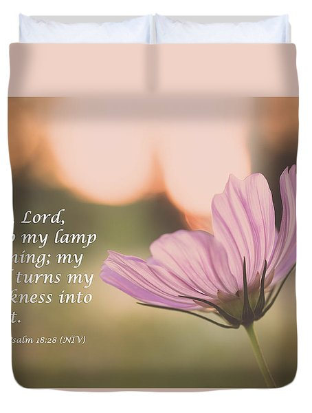 Darkness Into Light Duvet Cover