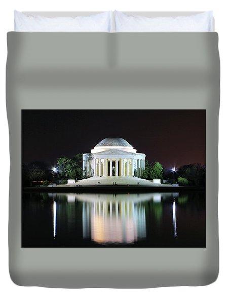 Darkness Over The Jefferson Memorial Duvet Cover