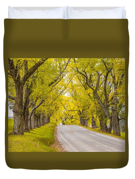 Darling Hill Autumn Duvet Cover by Tim Kirchoff