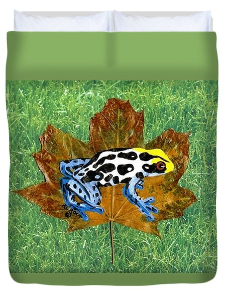 Dart Poison Frog Duvet Cover by Ralph Root