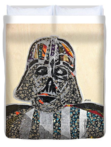 Duvet Cover featuring the tapestry - textile Darth Vader Star Wars Afrofuturist Collection by Apanaki Temitayo M