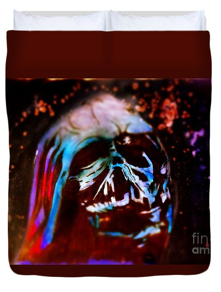 Darth Vader's Melted Helmet Duvet Cover