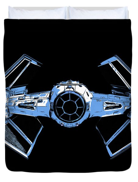 Darth Vaders Tie Figher Advanced X1 Tee Duvet Cover by Edward Fielding