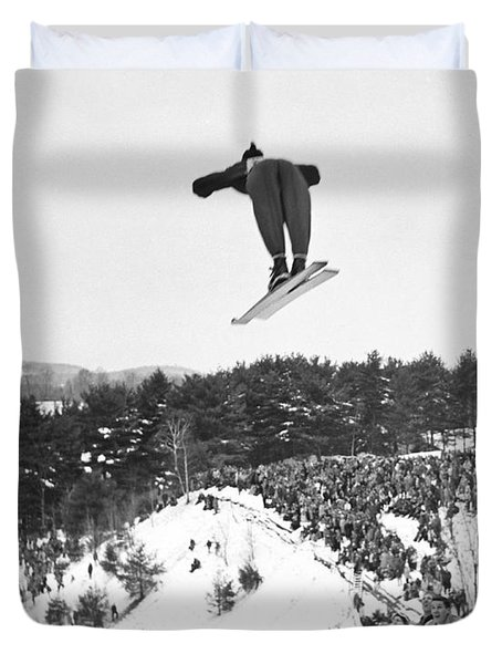 Dartmouth Carnival Ski Jumper Duvet Cover