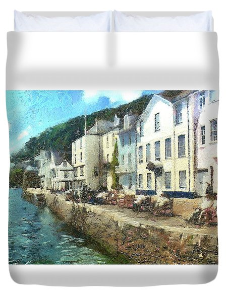 Bayards Cove Dartmouth Devon  Duvet Cover