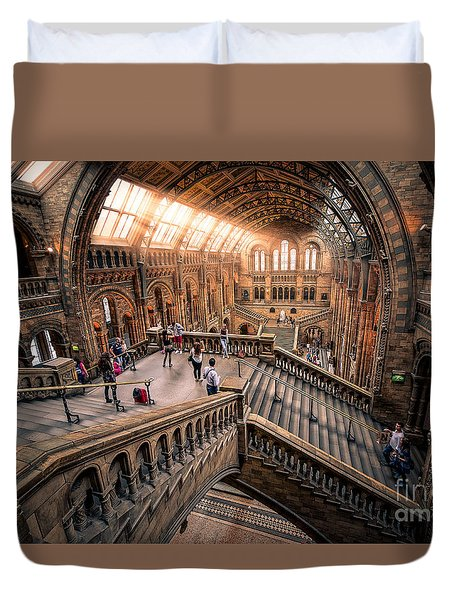 Darwin And Friends Duvet Cover by Giuseppe Torre