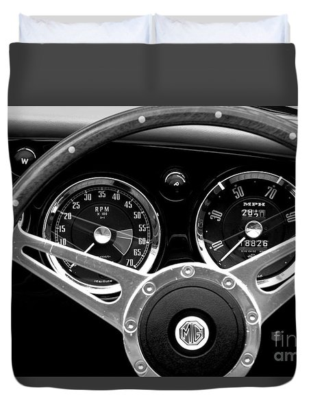 Duvet Cover featuring the photograph Dashboard by Stephen Mitchell