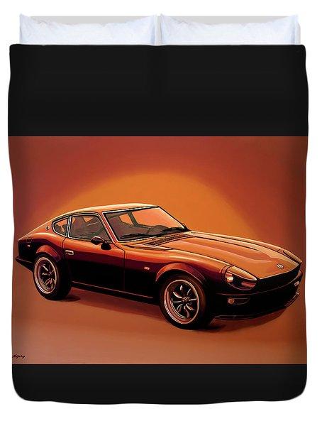 Datsun 240z 1970 Painting Duvet Cover