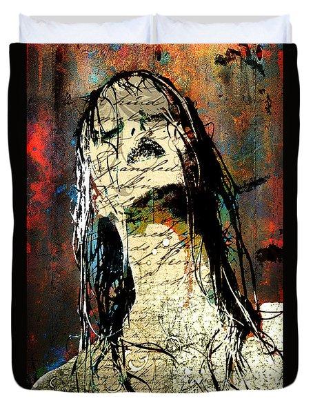 Daunted Damsel Duvet Cover by Greg Sharpe