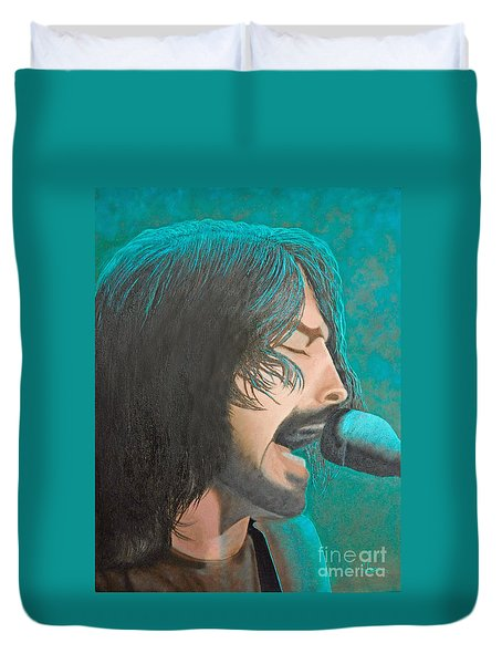 Dave Grohl Of The Foo Fighters Duvet Cover