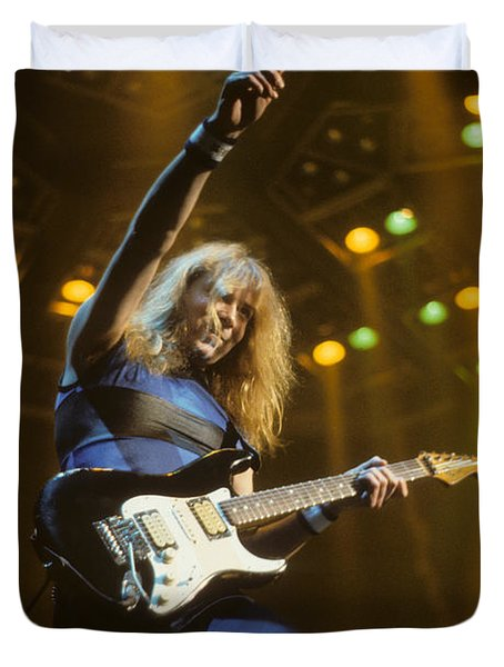 Dave Murray Of Iron Maiden Duvet Cover