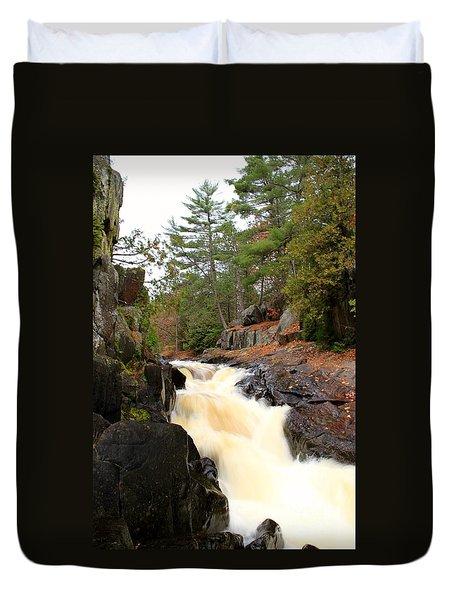 Dave's Falls #7277 Duvet Cover by Mark J Seefeldt