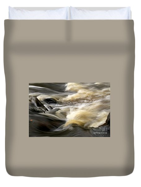 Duvet Cover featuring the photograph Dave's Falls #7431 by Mark J Seefeldt