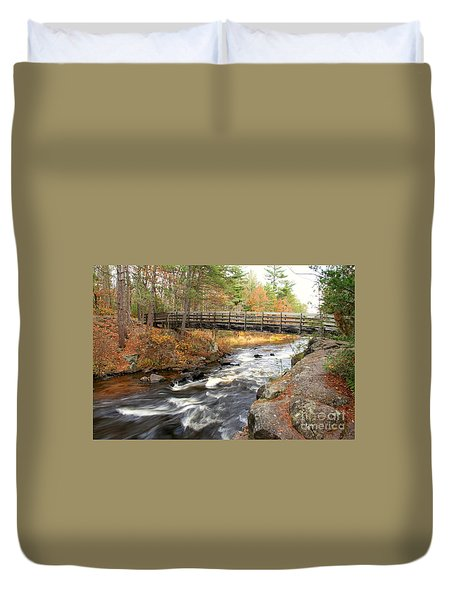 Duvet Cover featuring the photograph Dave's Falls #7480 by Mark J Seefeldt
