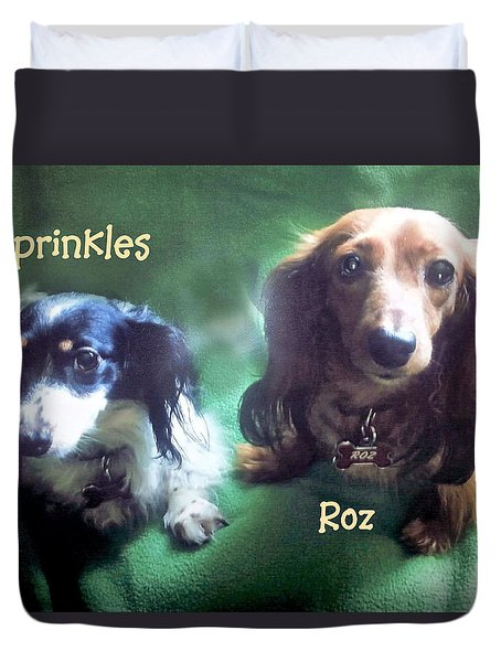 Dave's Roz And Sprinkles Duvet Cover