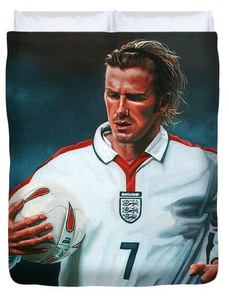 David Beckham Duvet Cover by Paul Meijering