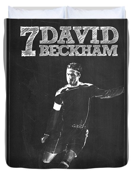 David Beckham Duvet Cover by Semih Yurdabak