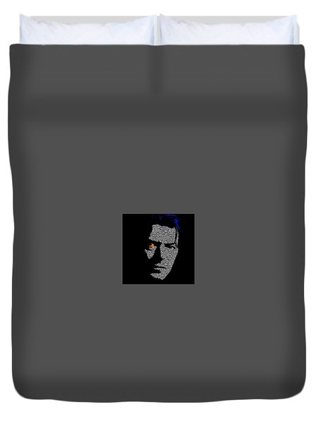 David Bowie 1 Duvet Cover by Emme Pons