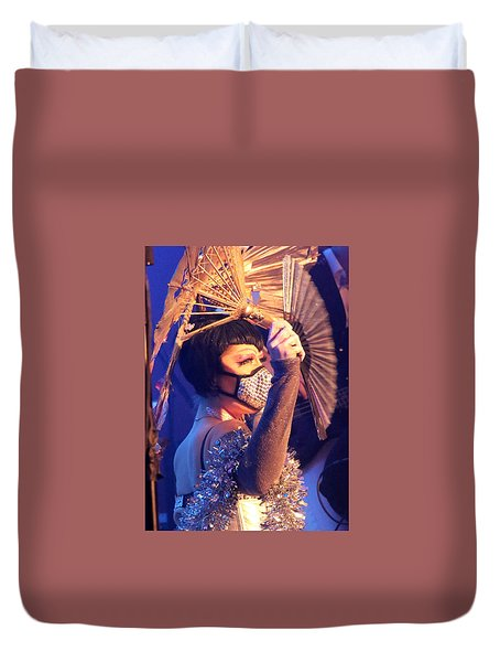 Duvet Cover featuring the photograph David Bowie 5th Annual Birthday Bash by John King