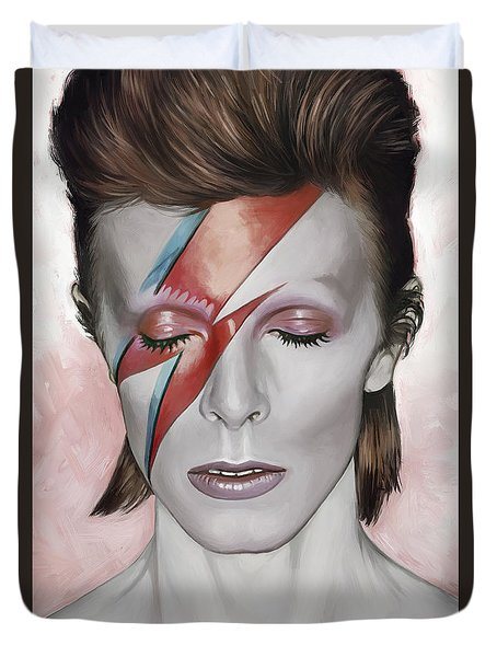 David Bowie Artwork 1 Duvet Cover by Sheraz A