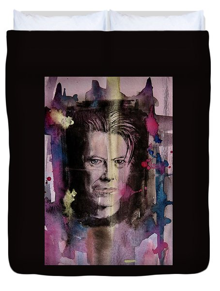 David Bowie Duvet Cover by Geni Gorani