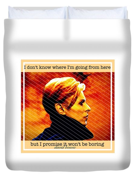 David Bowie Duvet Cover by Laura Michelle Corbin