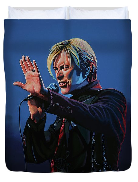David Bowie Live Painting Duvet Cover