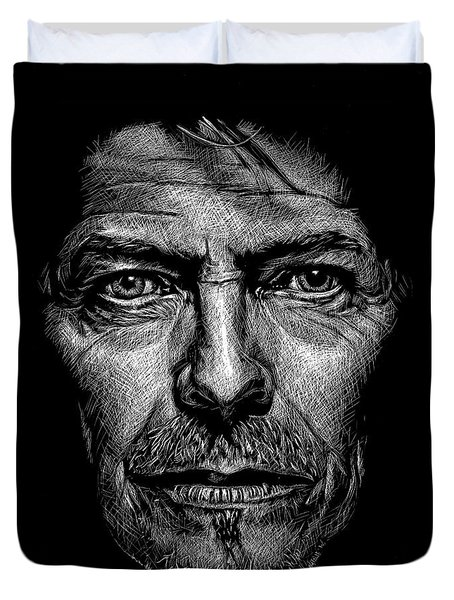 David Bowie Duvet Cover by Maria Arango