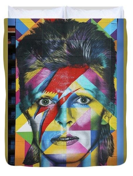 David Bowie Mural # 3 Duvet Cover