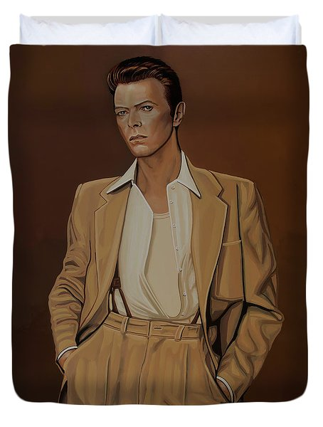 David Bowie Four Ever Duvet Cover by Paul Meijering