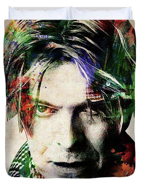 David Bowie Portrait Duvet Cover