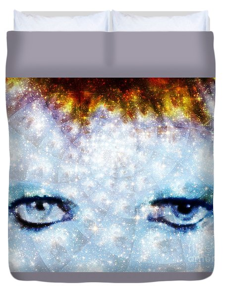 David Bowie / Stardust Duvet Cover by Elizabeth McTaggart