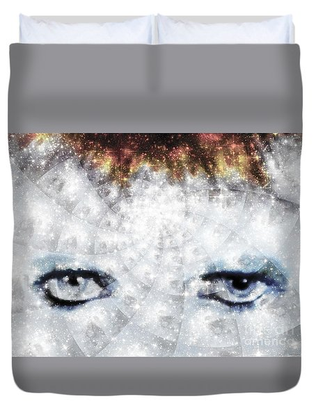 David Bowie / Stardust / Muted Colors  Duvet Cover