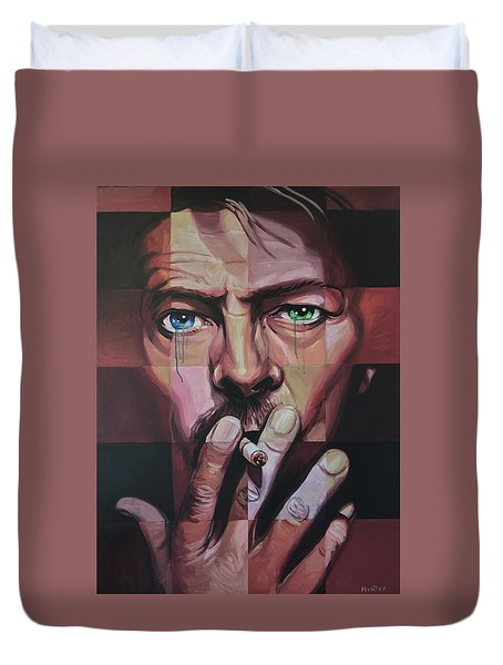 David Bowie Duvet Cover by Steve Hunter
