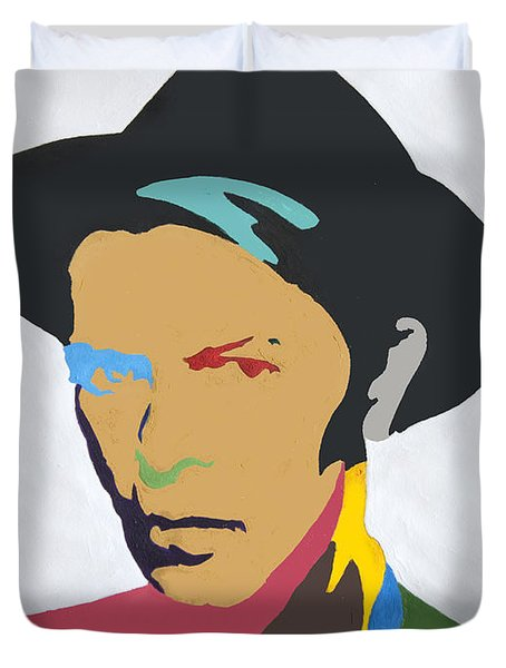 David Bowie Duvet Cover by Stormm Bradshaw
