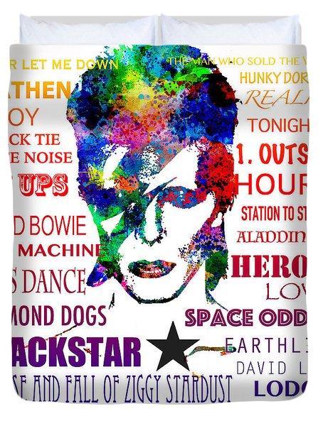David Bowie Tribute Duvet Cover