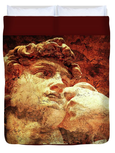 David By Michelangelo Duvet Cover