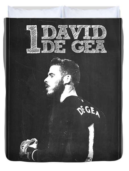 David De Gea Duvet Cover by Semih Yurdabak