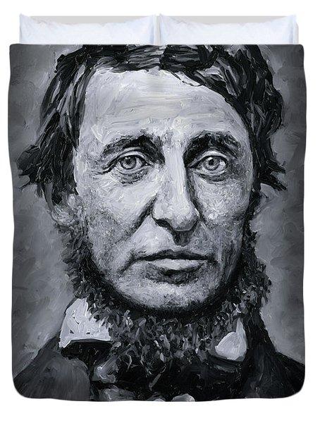 David Henry Thoreau Duvet Cover