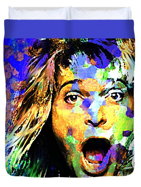 David Lee Roth Duvet Cover by Enki Art