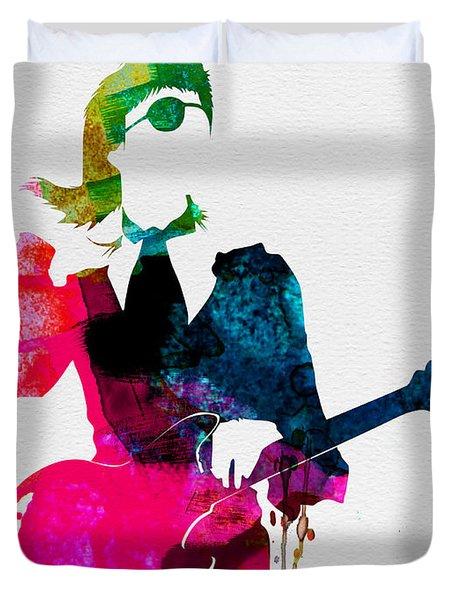 David Watercolor Duvet Cover