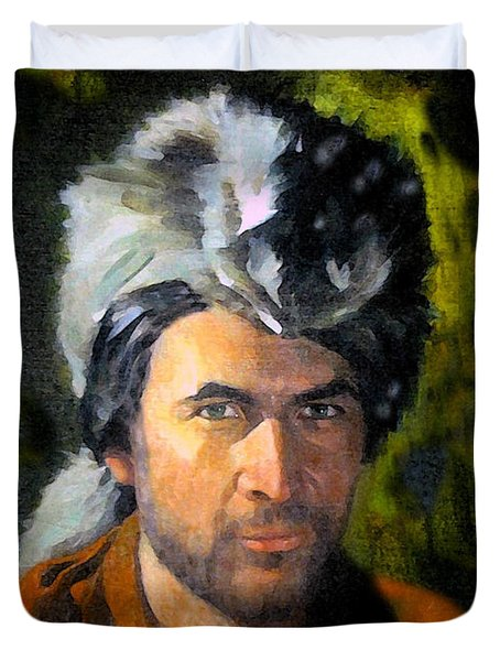 Davy Crockett Duvet Cover by David Lee Thompson