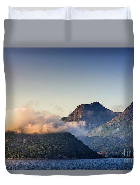 Dawn Along The Nordfjord  Duvet Cover