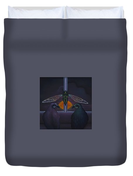 Dawn And The Echo Of Confession Duvet Cover by Andrew Batcheller