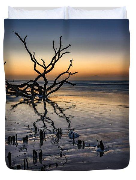Dawn At Botany Bay Duvet Cover