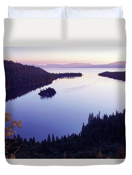 Dawn At Emerald Bay, Lake Tahoe Duvet Cover