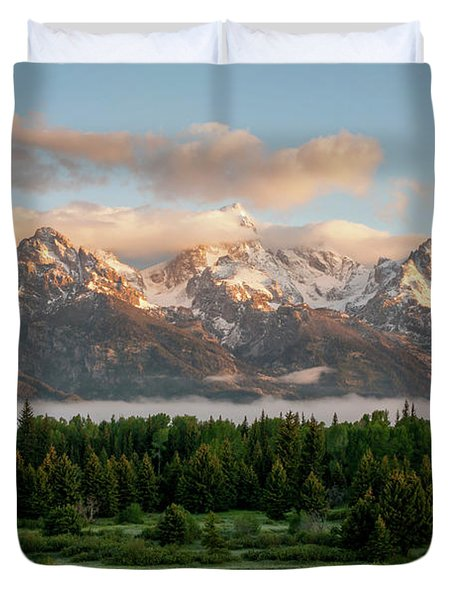 Dawn At Grand Teton National Park Duvet Cover by Brian Harig