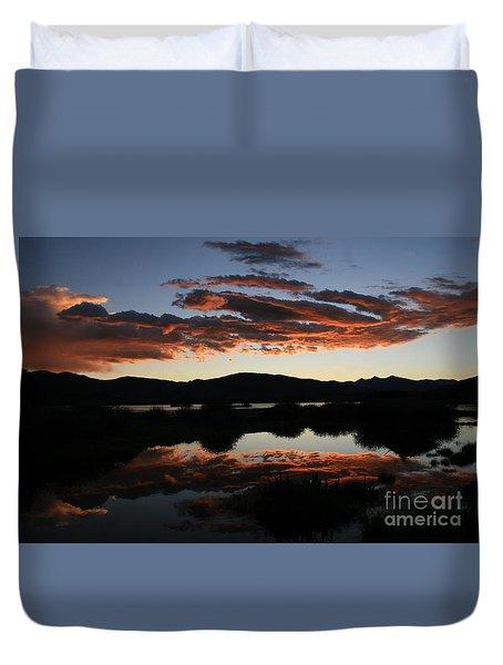 Dawn At Lake Dillon Duvet Cover
