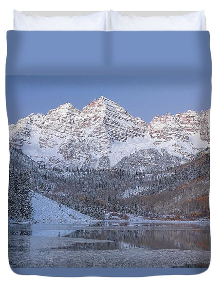 Dawn At Maroon Bells 2 Duvet Cover